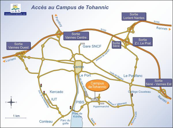 Accès au Campus de Tohannic